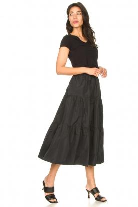 Look Taffeta maxi skirt Tess