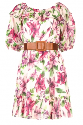 Liu Jo | Off shoulder floral dress Nora | pink