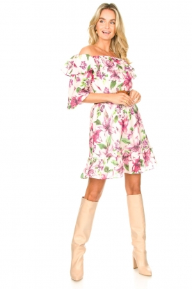 Look Off shoulder floral dress Nora