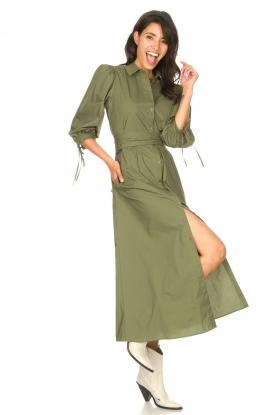 Liu Jo |  Poplin maxi dress Mari | green
