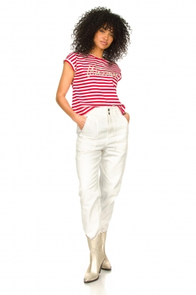 Look Cotton T-shirt with stripes Lily