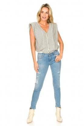 Look Skinny jeans with ribbed details Xia