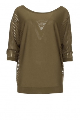 Fracomina | Sweater with bat sleeves Liv | green