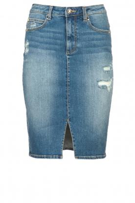 Fracomina |  Denim pencil skirt Mia | blue