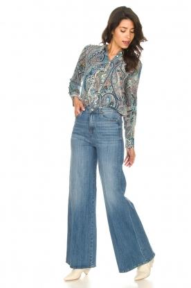 Fracomina |  High waist flare Vic | blue