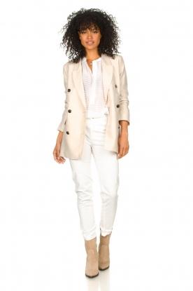 Fracomina |  Cotton chino pants Amy | white