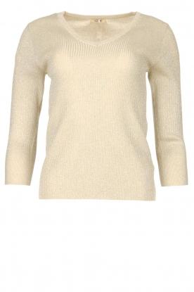 Fracomina |  Lurex sweater Lizzy | beige