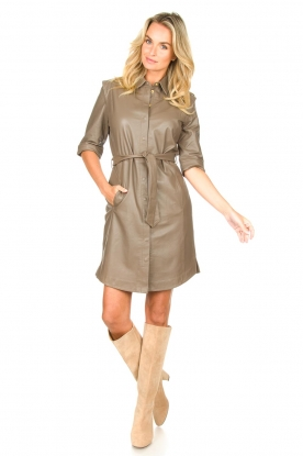 Look Lamb leather button-up dress Lyra
