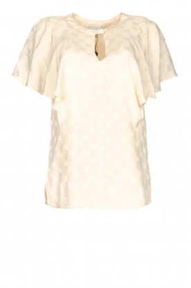 Dante 6 | Top with butterfly sleeve Lily | natural