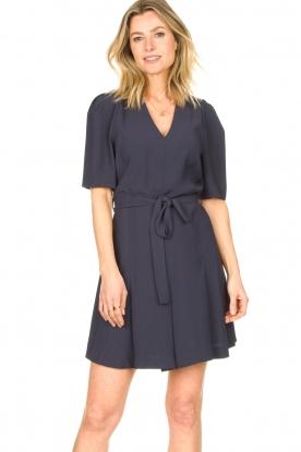 Dante 6 |  Dress with tie waist detail Rebel | blue