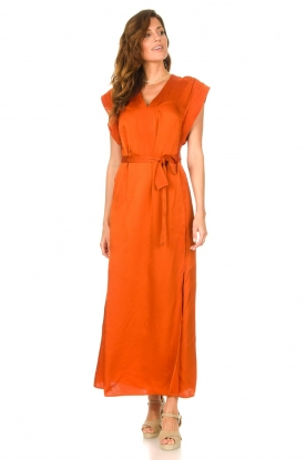 Look Maxi dress with crepe effect Jasiel