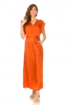 Dante 6 |  Maxi dress with crepe effect Jasiel | orange
