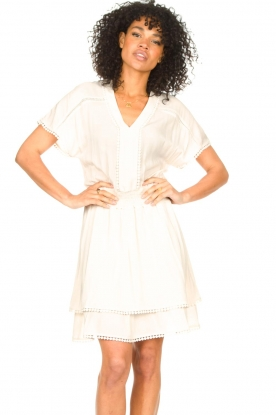Dante 6 |  Dress with broderie details Leisure | natural