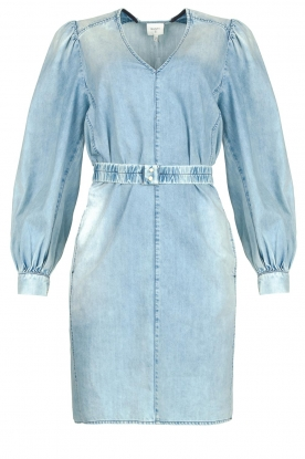 Dante 6 | Denim dress with puff sleeves Nioly | blue