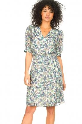 Dante 6 |  Floral dress Oryn | blue