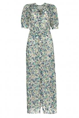 Dante 6 |  Floral maxi dress August | blue