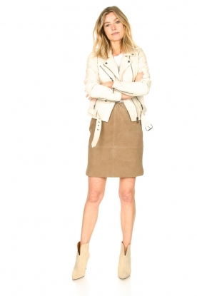 Look Suede Skirt Comet
