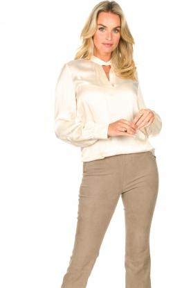 Dante 6 |  Silk blouse Izelle | natural