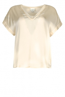 Dante 6 | Silk stretch top Odette | natural