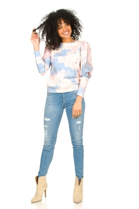 Look Cotton sweater with tie dye effect Cloud