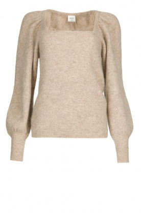 Dante 6 | Knitted sweater with puff sleeves Alexa | beige