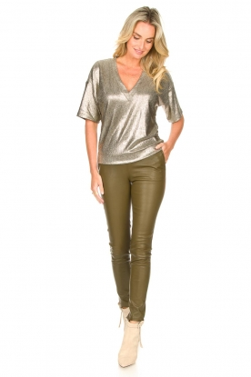 Look Metallic top Rae