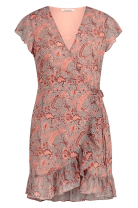 Freebird | Paisley printed wrap dress Rosy | blue