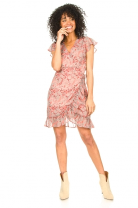 Look Paisley printed wrap dress Rosy