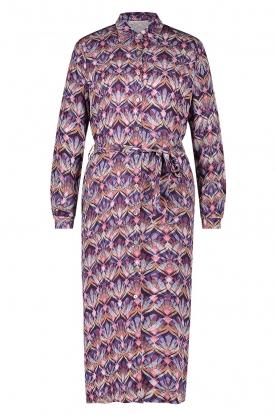 Freebird |  Midi button-up dress Dynthe | purple