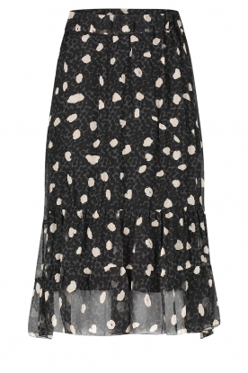 Freebird | Skirt with leopard print Aria | black