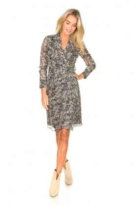 Look Printed midi wrap dress Isaya