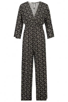 Freebird |  Jumpsuit with print Florine | black