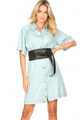 Freebird |  Button-up dress Kae | blue