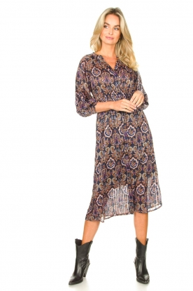 Look Midi dress with puff sleeves Mae