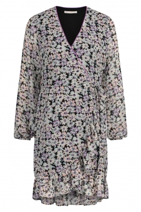 Freebird | Wrap dress with puff sleeves Rosy | multi