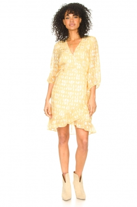 Look Wrap dress with puff sleeves Rosy Jacq