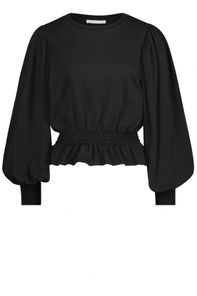 Freebird | Sweater with balloon sleeves Viccy | black
