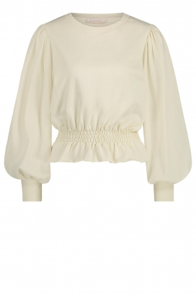 Freebird | Sweater with balloon sleeves Viccy | white