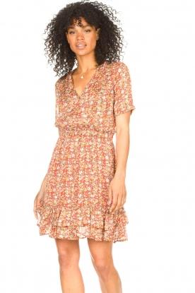 Freebird |  Floral dress Emily | orange