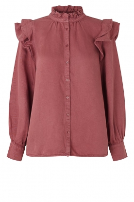 Second Female | Ruches blouse Bella | roze