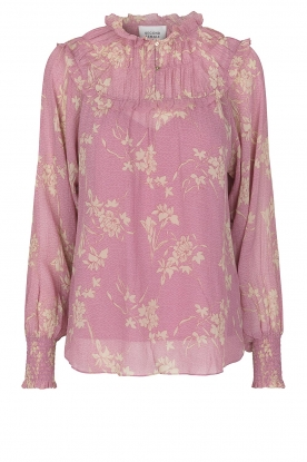 Second Female | Floral smocked blouse Mories | pink