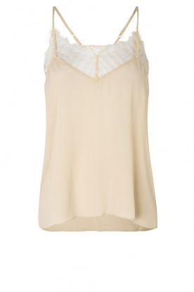 Second Female | Top met kant Nathali | beige