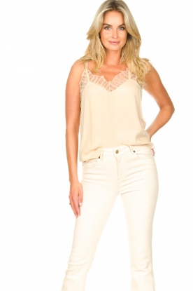 Second Female |  Lace top Nathali | beige