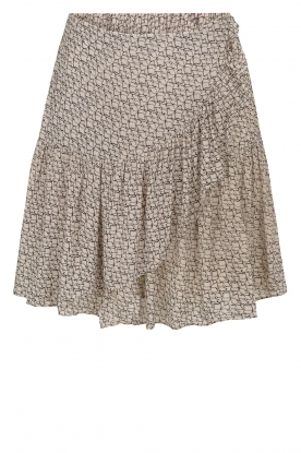 Second Female | print midi skirt Lacing | beige