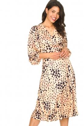 Second Female |  Midi wrap dress Amur | beige