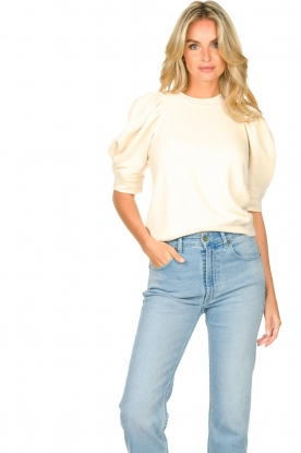Second Female |  Sweater with puff sleeves Dawni | white
