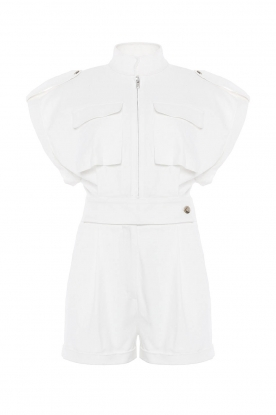 CHPTR S |Getailleerde playsuit Breeze | wit