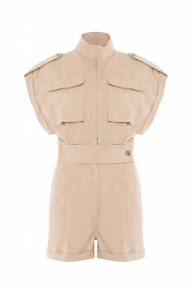 CHPTR S | Getailleerde playsuit Breeze | beige
