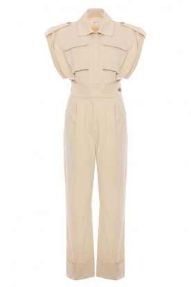 CHPTR S |  Fitted jumpsuit Forest | beige