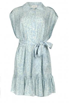 CHPTR S |  Dress with matching tie belt Maze | blue